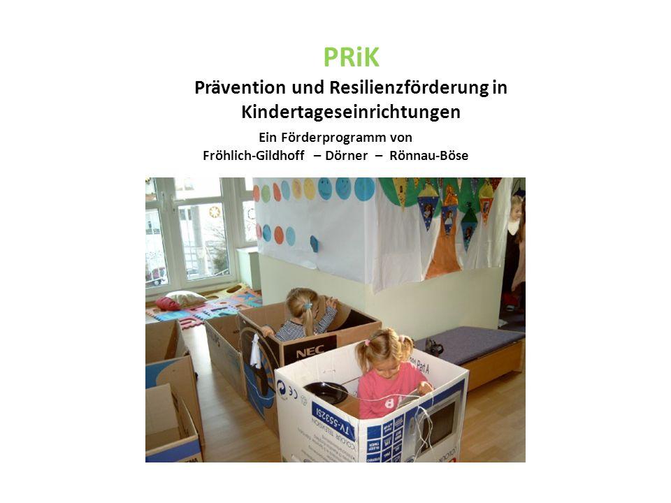 PRiK Prävention und Resilienzförderung in Kindertageseinrichtungen Ein Förderprogramm von Fröhlich-Gildhoff – Dörner – Rönnau-Böse