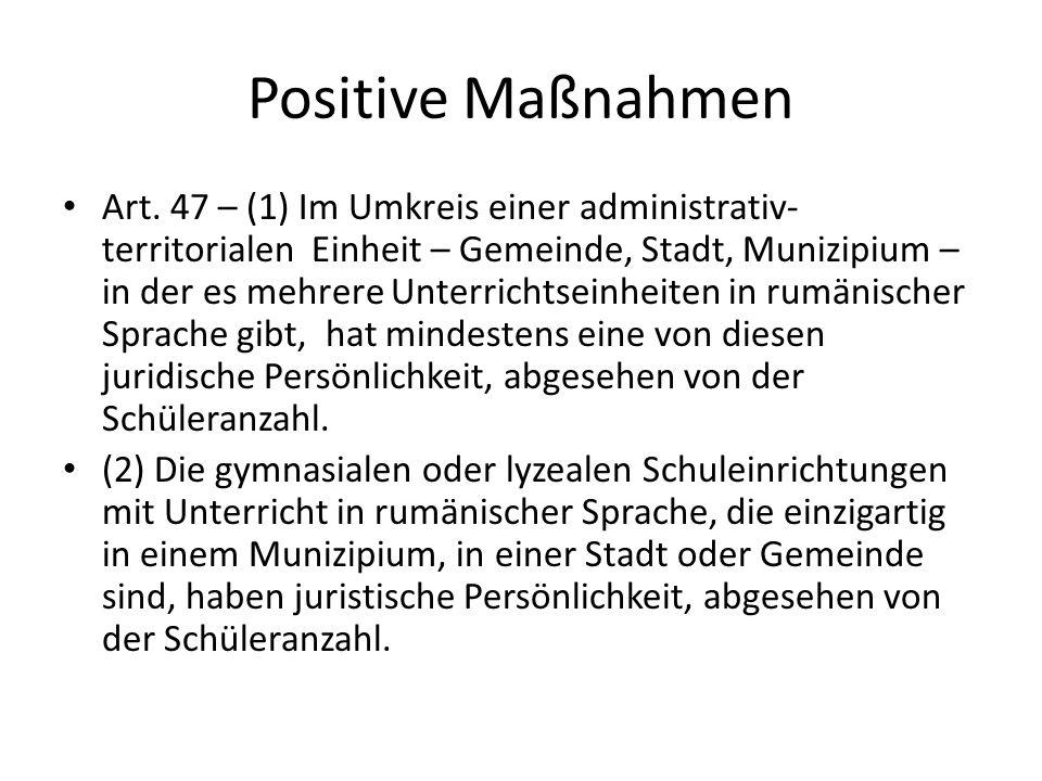 Positive Maßnahmen Art.