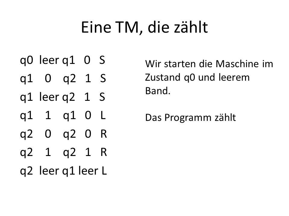 Alan Turing (1912 – 1954) Hat diese Maschine 1936 eingeführt in einer Arbeit ON COMPUTABLE NUMBERS, WITH AN APPLICATION TO THE ENTSCHEIDUNGSPROBLEM These: Turing Maschine fasst den Begriff nach Regeln berechenbar Wenn etwas durch eine Maschine berechenbar ist, dann durch eine Turingmaschine