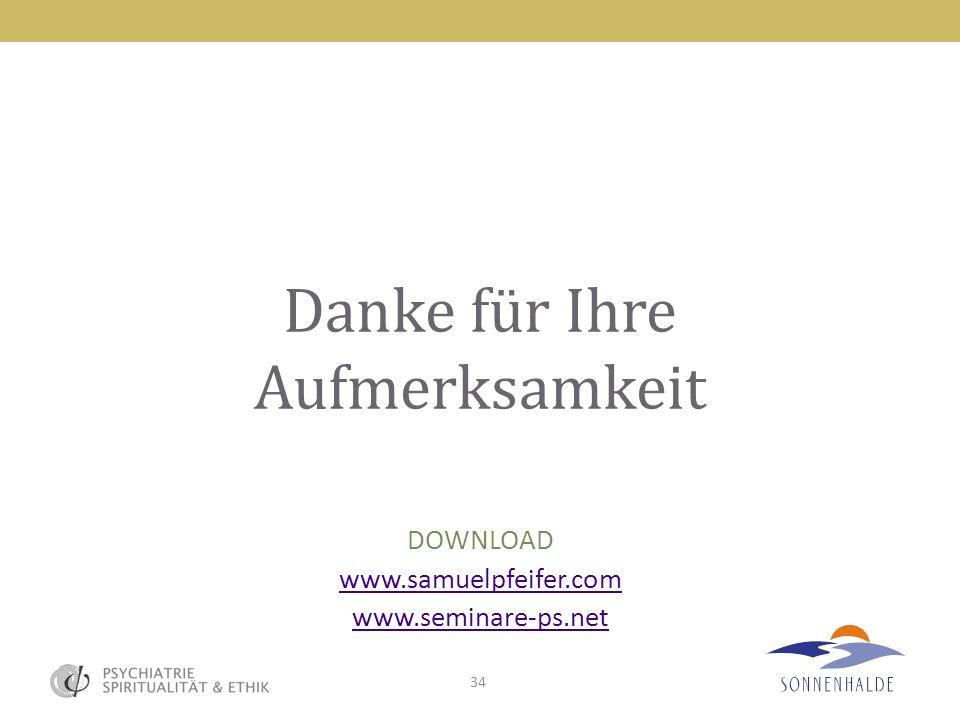 34 Danke für Ihre Aufmerksamkeit DOWNLOAD www.samuelpfeifer.com www.seminare-ps.net