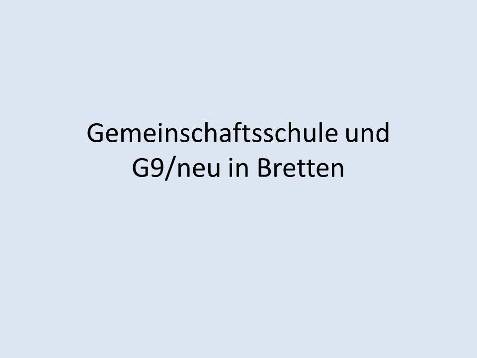 Gemeinschaftsschule und G9/neu in Bretten