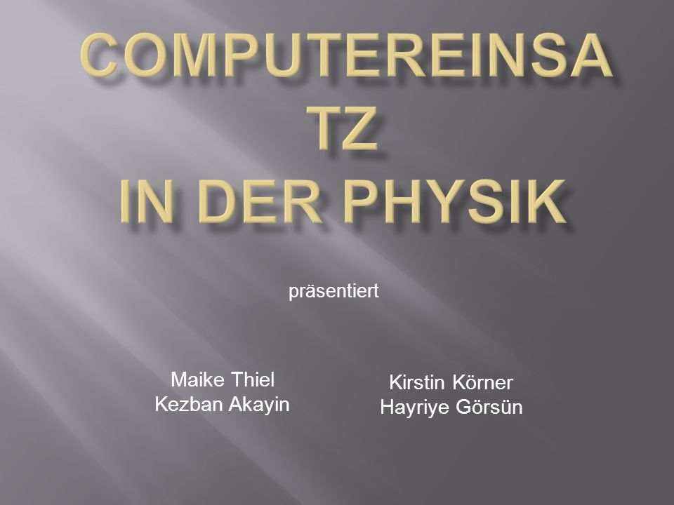 Maike Thiel Kezban Akayin Kirstin Körner Hayriye Görsün präsentiert
