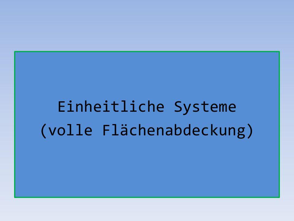 Einheitliche Systeme (volle Flächenabdeckung)