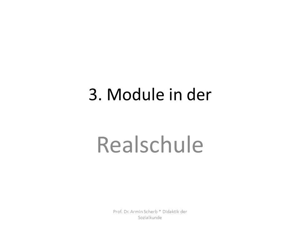3. Module in der Realschule Prof. Dr. Armin Scherb * Didaktik der Sozialkunde