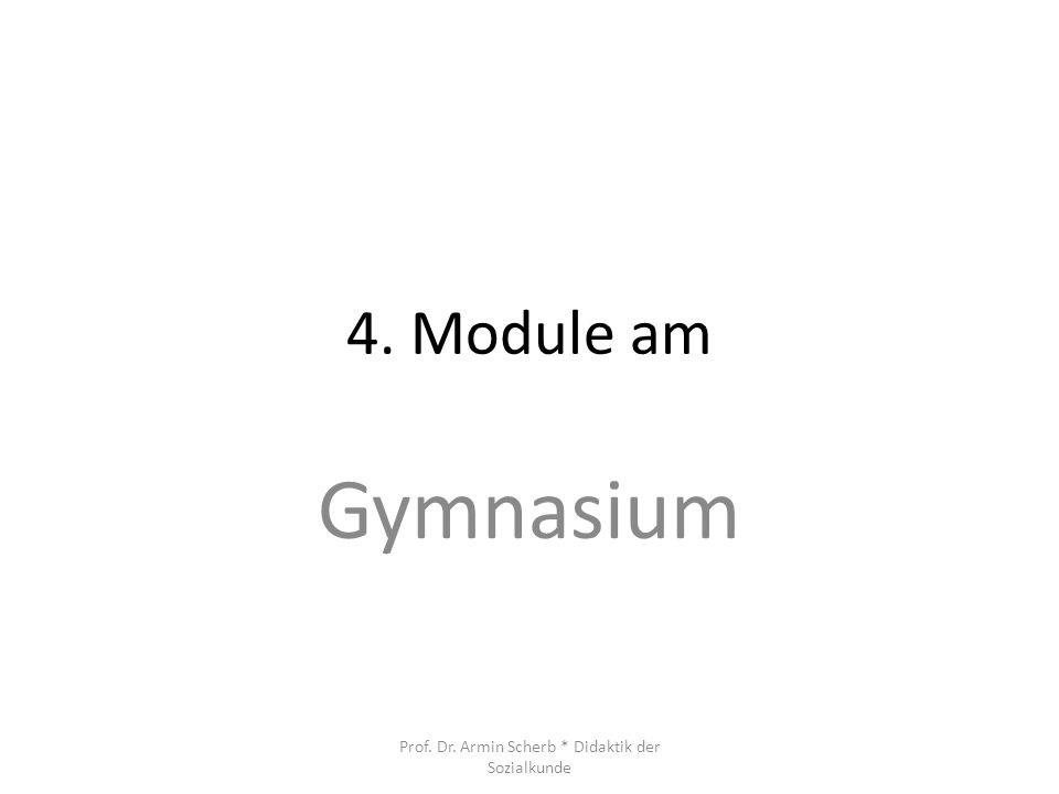 4. Module am Gymnasium Prof. Dr. Armin Scherb * Didaktik der Sozialkunde