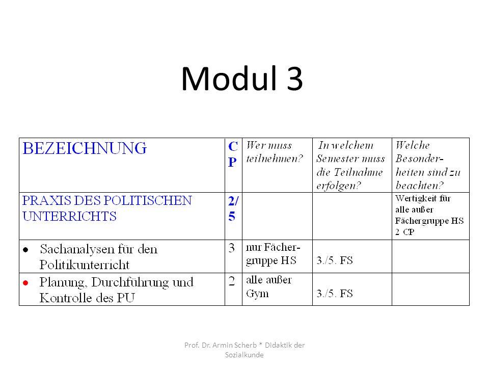 Modul 3 Prof. Dr. Armin Scherb * Didaktik der Sozialkunde