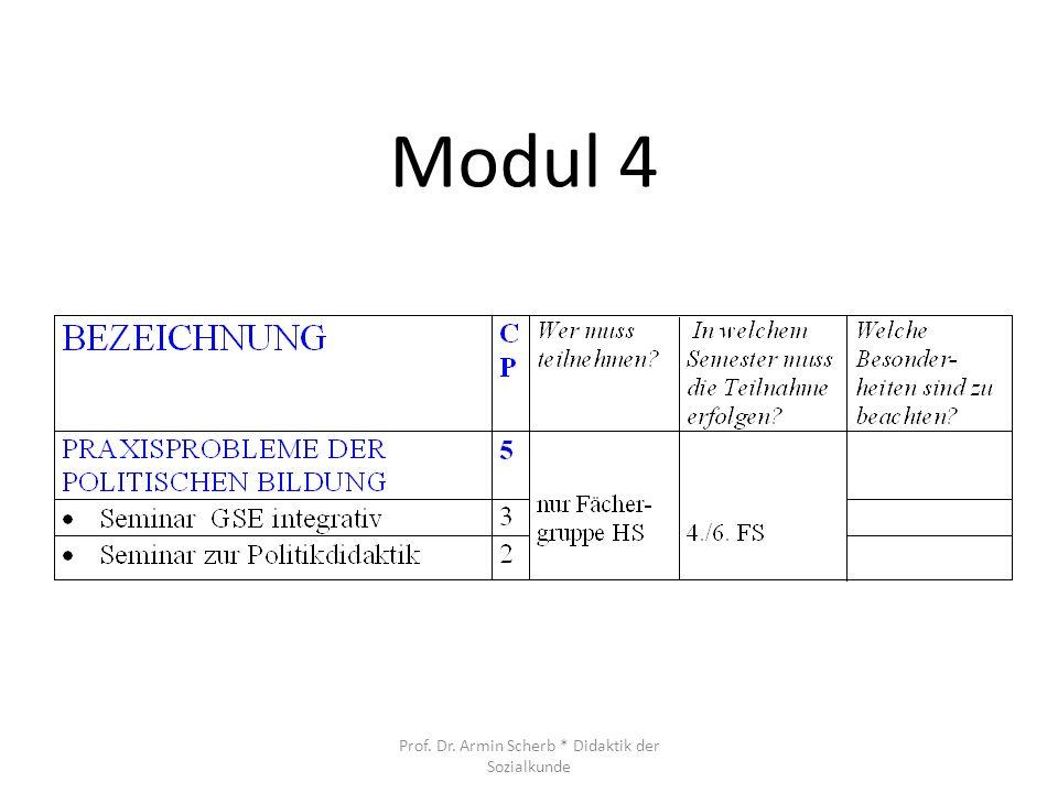 Modul 4 Prof. Dr. Armin Scherb * Didaktik der Sozialkunde