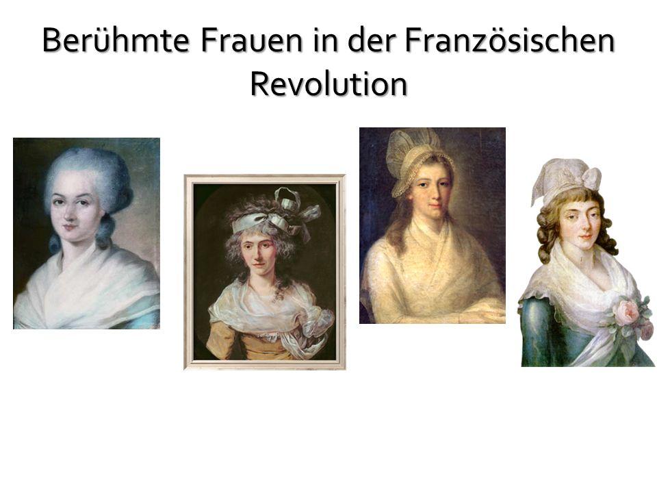 Berühmte Frauen in der Französischen Revolution