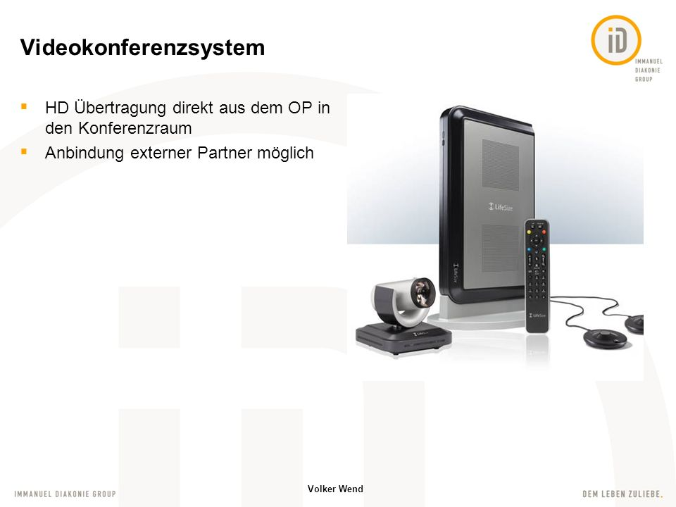Volker Wend Elektrische Bauelemente sind über den LCN Bus miteinander verbunden Schnittstelle zur PC-Welt Webanwendung zur Steuerung von Licht, Jalousien usw.