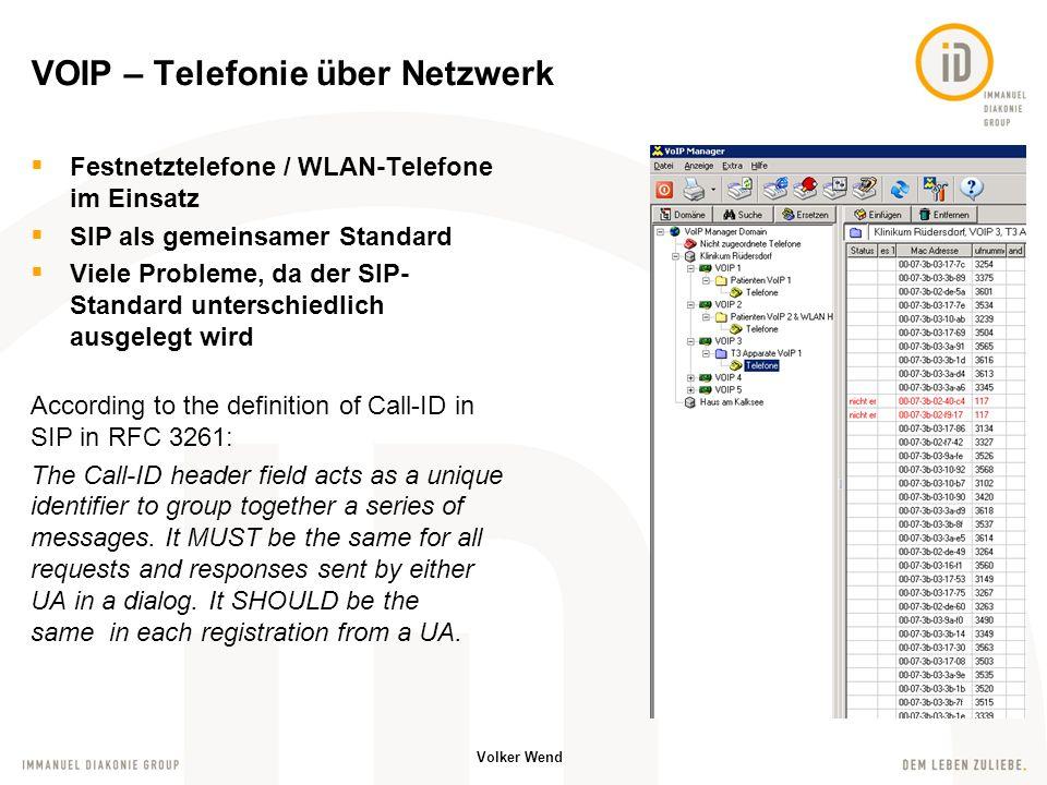 Volker Wend Alarmierung der Mitarbeiter per Textmessages auf Handys und Haustelefon Quittierungen möglich MACS Server