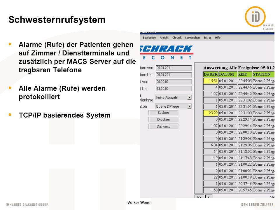 Volker Wend alle Daten / Befunde vom Patienten aufrufbar Monitoringsystem / Spritzenpumpen liefern Messdaten ins System Planung / Dokumentation aller erbrachten Leistungen PDMS – Patient Data Management System