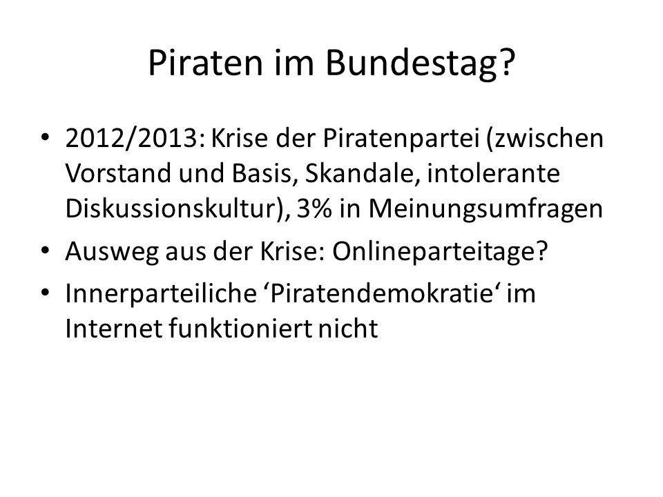 Piraten im Bundestag.