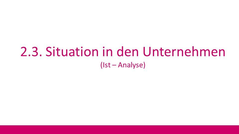 2.3. Situation in den Unternehmen (Ist – Analyse)