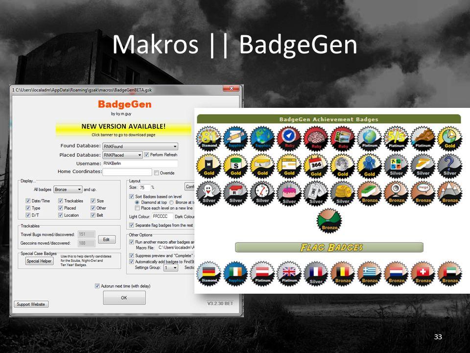 Makros || BadgeGen 33