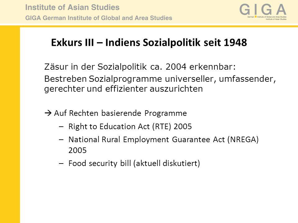 Zäsur in der Sozialpolitik ca. 2004 erkennbar: Bestreben Sozialprogramme universeller, umfassender, gerechter und effizienter auszurichten Auf Rechten