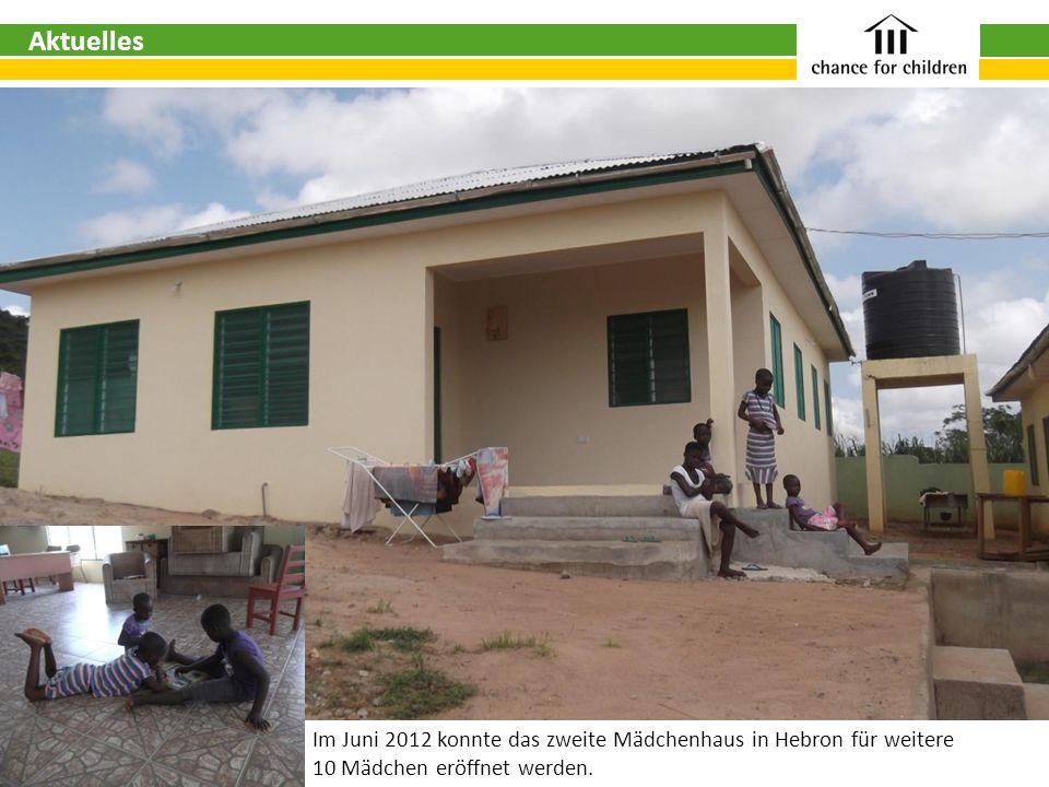 Im Juni 2012 konnte das zweite Mädchenhaus in Hebron für weitere 10 Mädchen eröffnet werden. Aktuelles