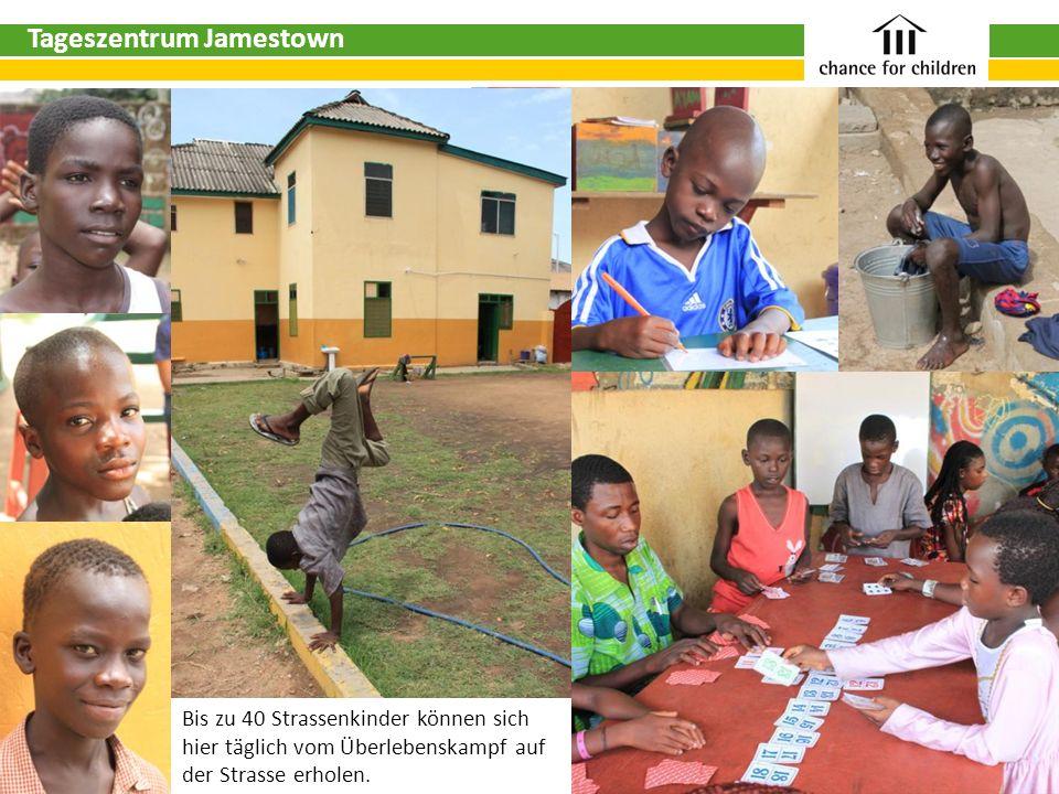 Tageszentrum Jamestown Bis zu 40 Strassenkinder können sich hier täglich vom Überlebenskampf auf der Strasse erholen.