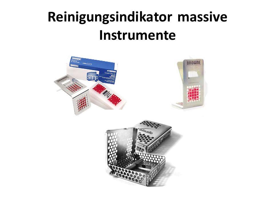 Reinigungsindikator massive Instrumente