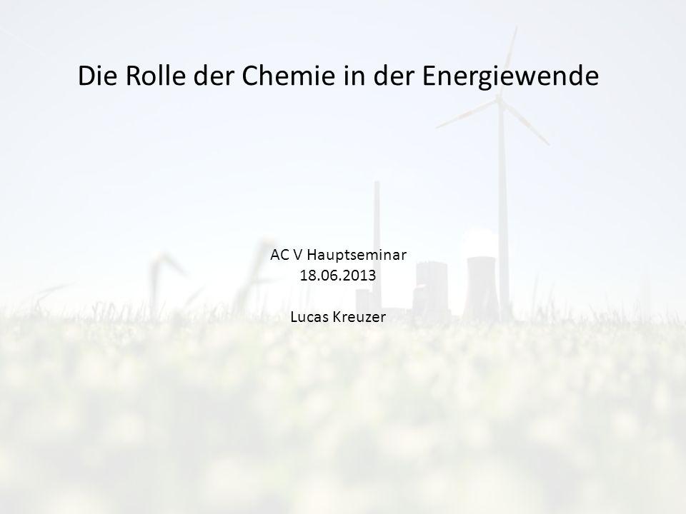 Die Rolle der Chemie in der Energiewende AC V Hauptseminar 18.06.2013 Lucas Kreuzer