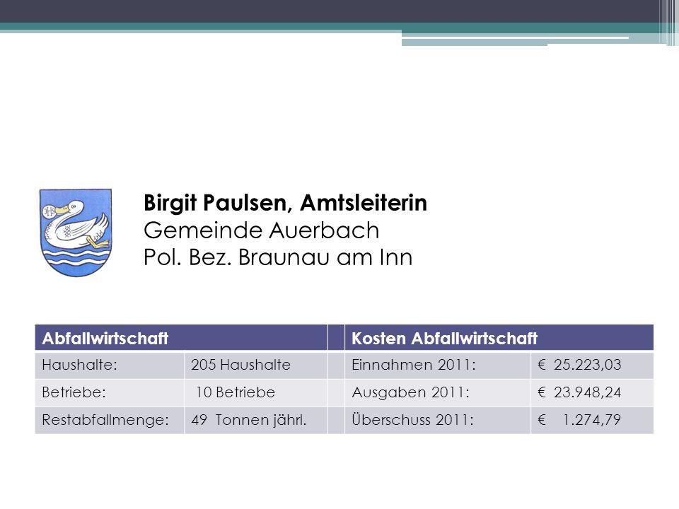 Birgit Paulsen, Amtsleiterin Gemeinde Auerbach Pol.