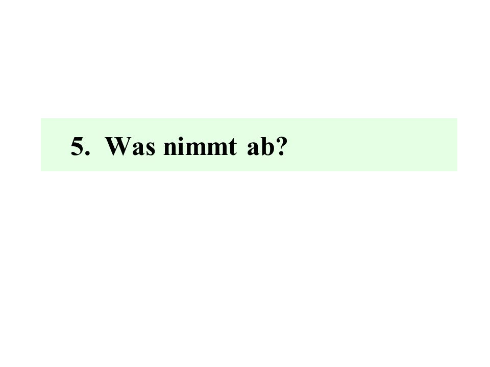 5. Was nimmt ab?