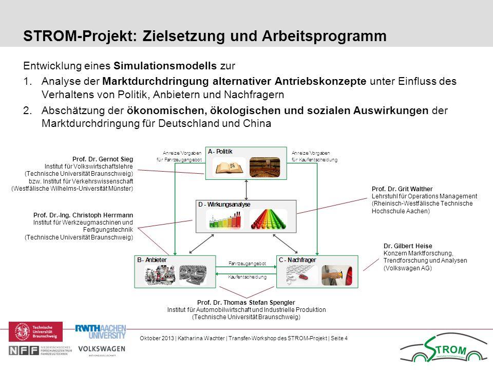 Oktober 2013 | Katharina Wachter | Transfer-Workshop des STROM-Projekt | Seite 4 Entwicklung eines Simulationsmodells zur 1.Analyse der Marktdurchdrin