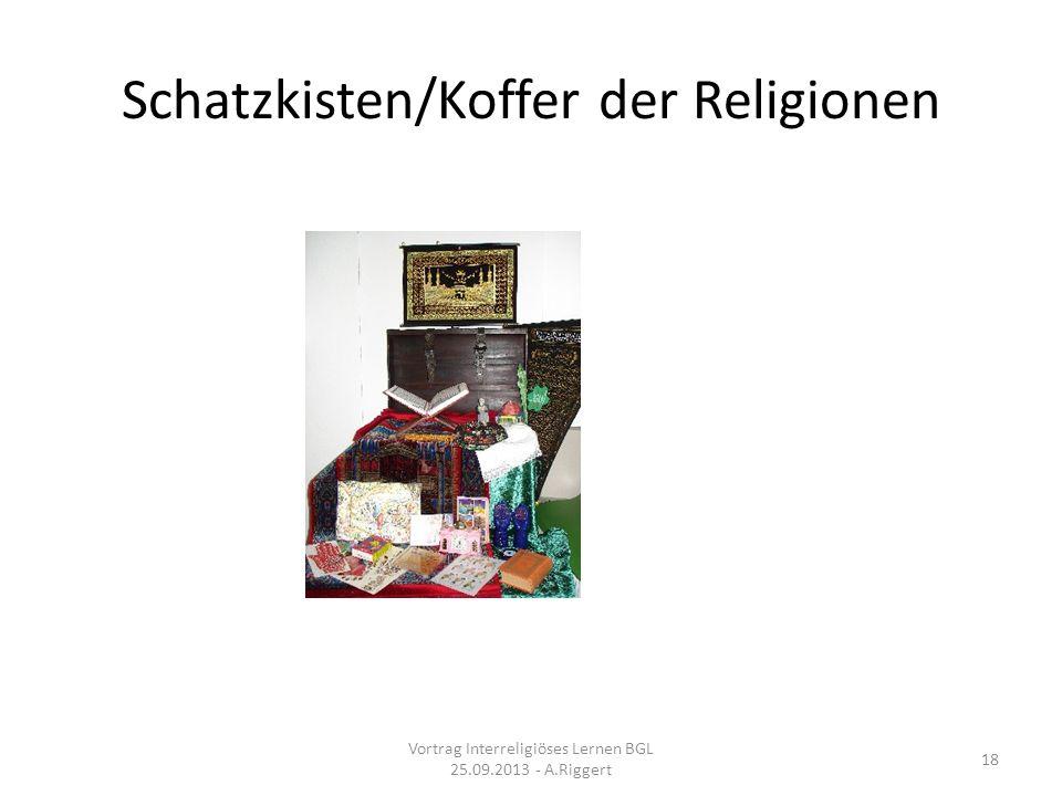 Schatzkisten/Koffer der Religionen Vortrag Interreligiöses Lernen BGL 25.09.2013 - A.Riggert 18