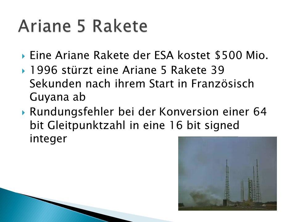 Eine Ariane Rakete der ESA kostet $500 Mio.