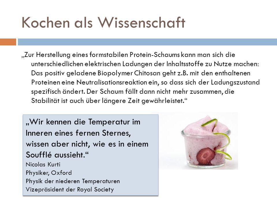 Was es sonst noch gibt Suppenchemie Rund ums Backpulver Analyse von Fleischwurst Büchertresen