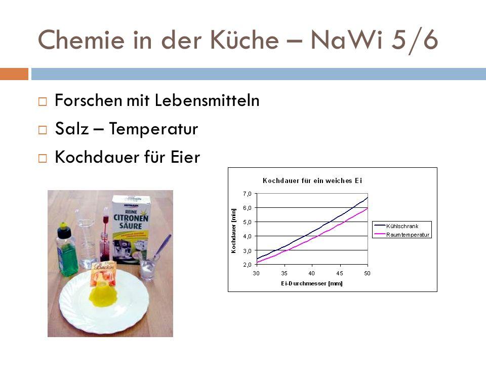 Chemie in der Küche – Mittelstufe Säuren und Basen Salze Luft Gemische