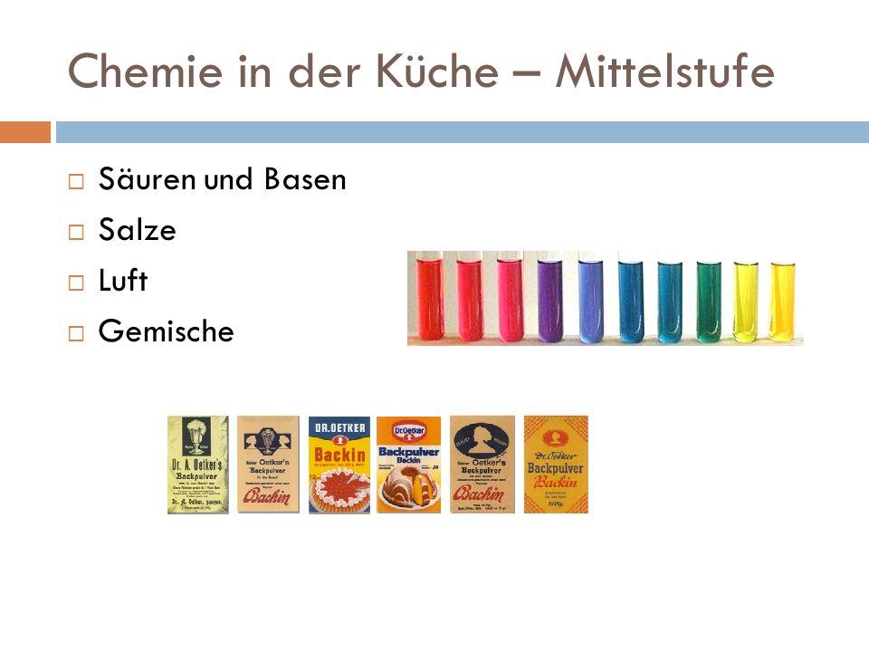 Chemie in der Küche – Oberstufe Milch - alles, was der Körper braucht.