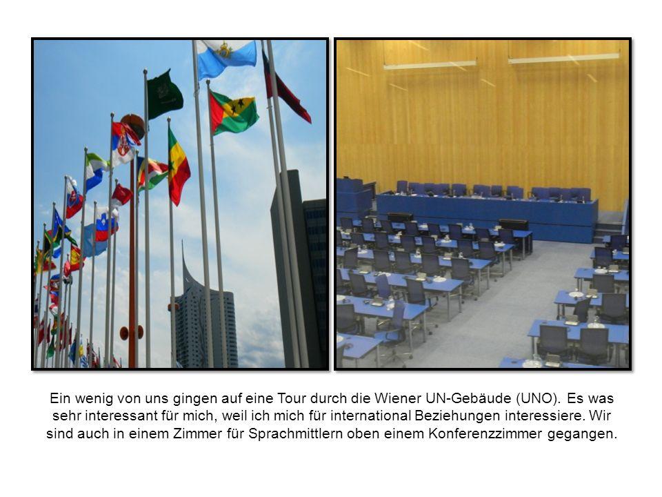 Ein wenig von uns gingen auf eine Tour durch die Wiener UN-Gebäude (UNO).
