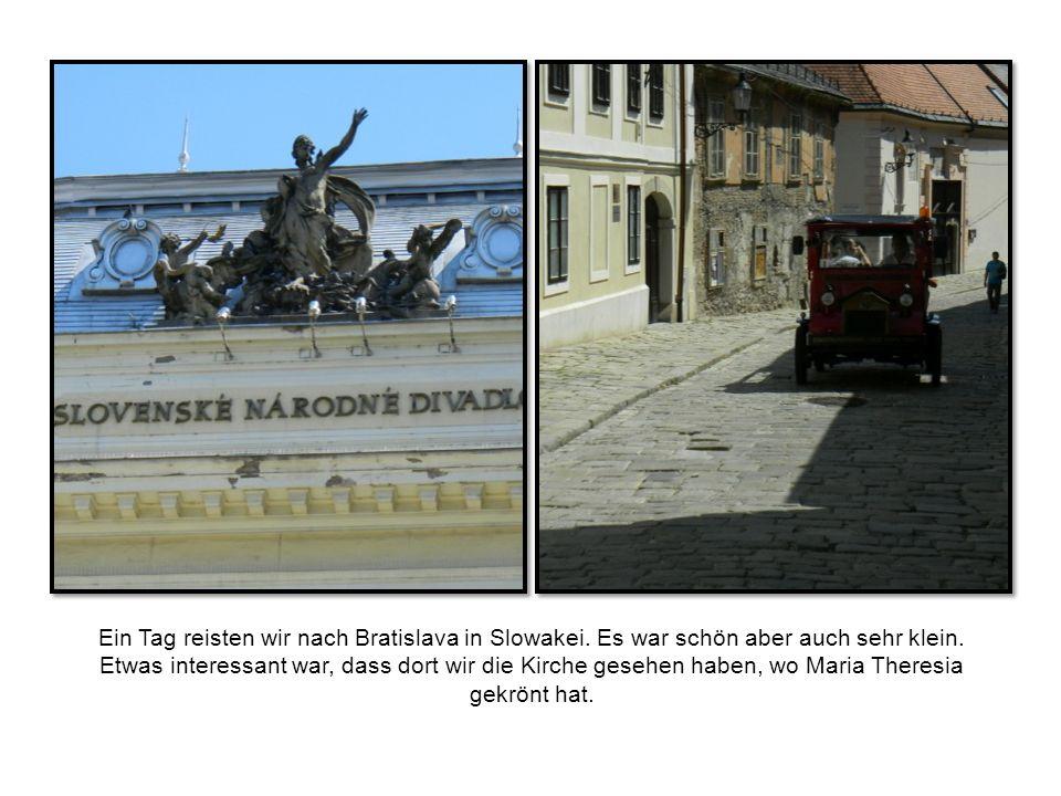 Ein Tag reisten wir nach Bratislava in Slowakei. Es war schön aber auch sehr klein.