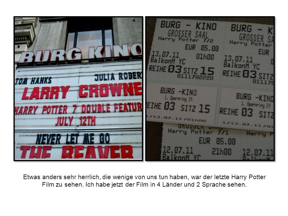 Etwas anders sehr herrlich, die wenige von uns tun haben, war der letzte Harry Potter Film zu sehen.