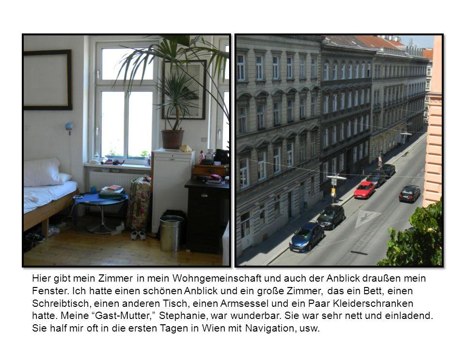 Hier gibt mein Zimmer in mein Wohngemeinschaft und auch der Anblick draußen mein Fenster.