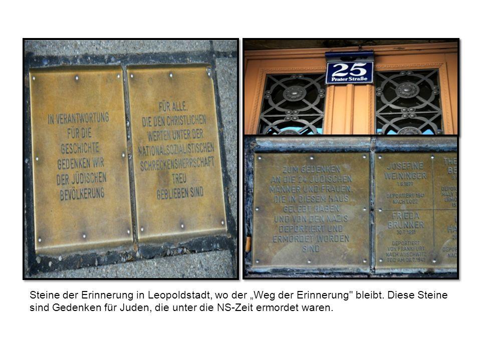 Steine der Erinnerung in Leopoldstadt, wo der Weg der Erinnerung bleibt.