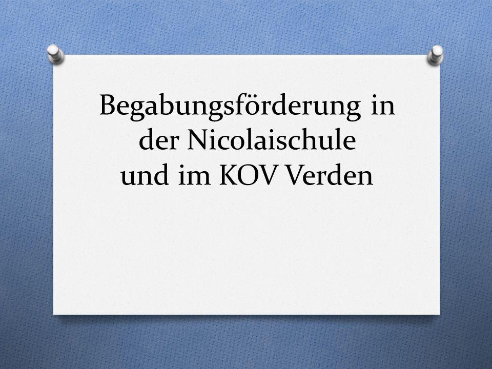Begabungsförderung in der Nicolaischule und im KOV Verden