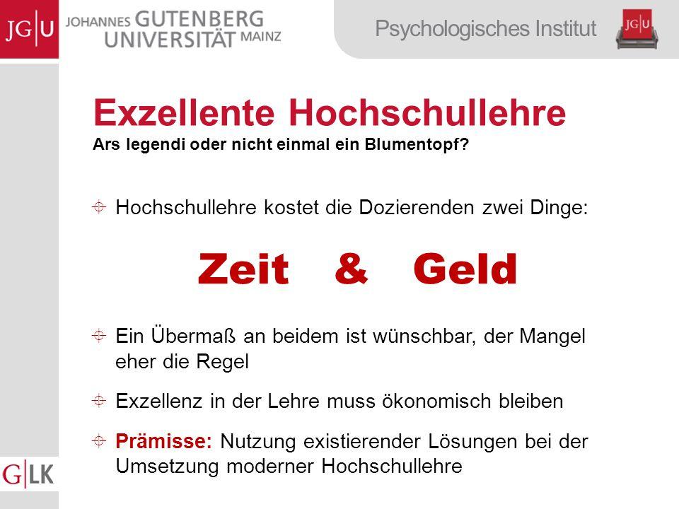 Psychologisches Institut Exzellente Hochschullehre Ars legendi oder nicht einmal ein Blumentopf.