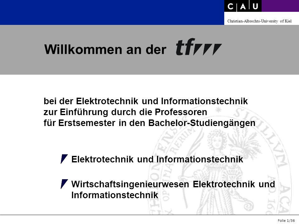 Christian-Albrechts-University of Kiel Folie 2/36 Übersicht 1.