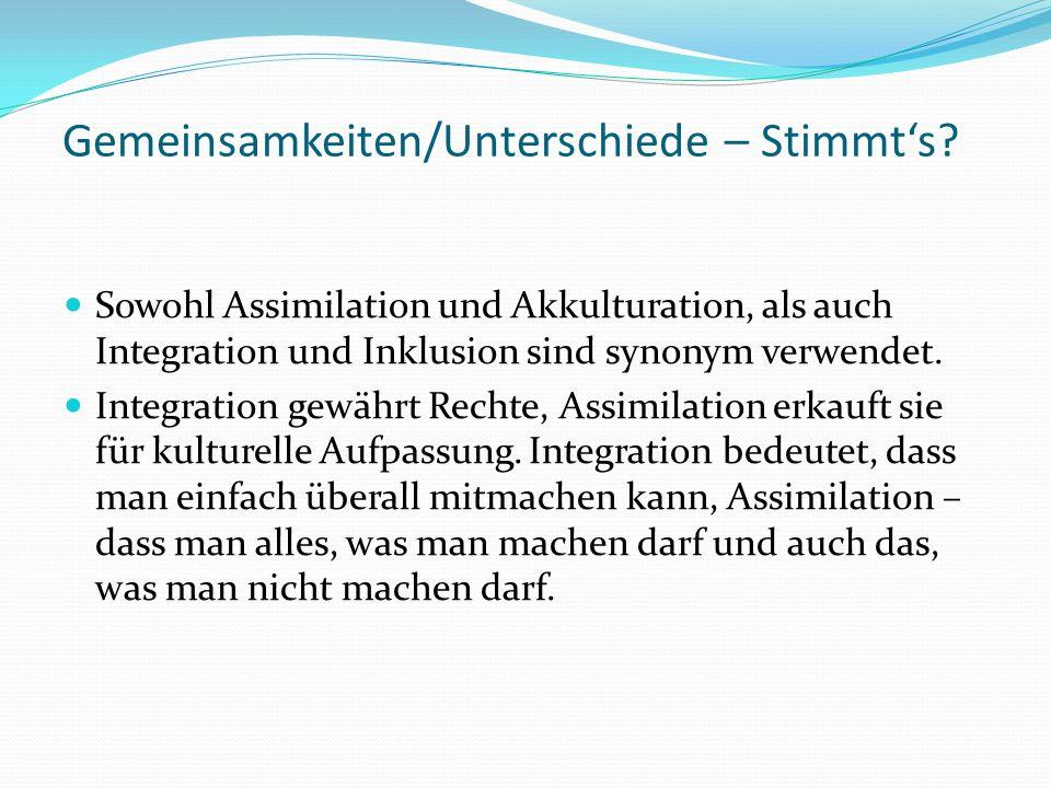 Gemeinsamkeiten/Unterschiede – Stimmts.