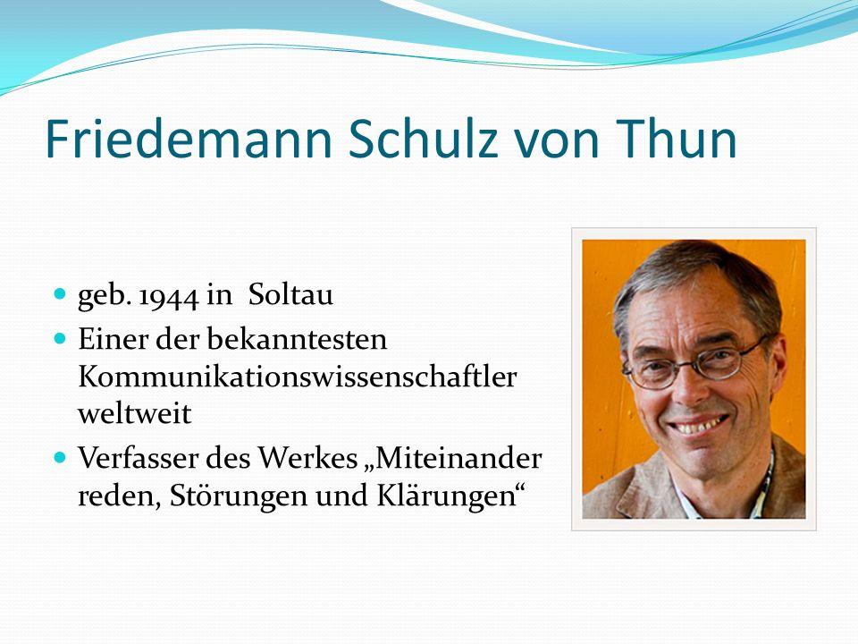 Friedemann Schulz von Thun geb.