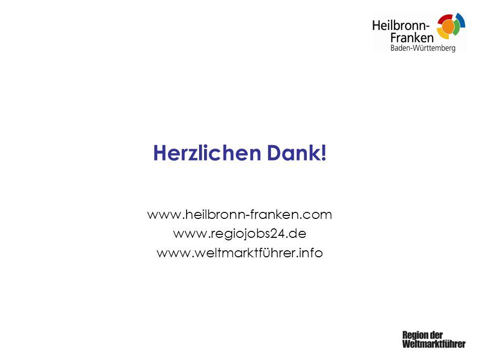 Herzlichen Dank! www.heilbronn-franken.com www.regiojobs24.de www.weltmarktführer.info