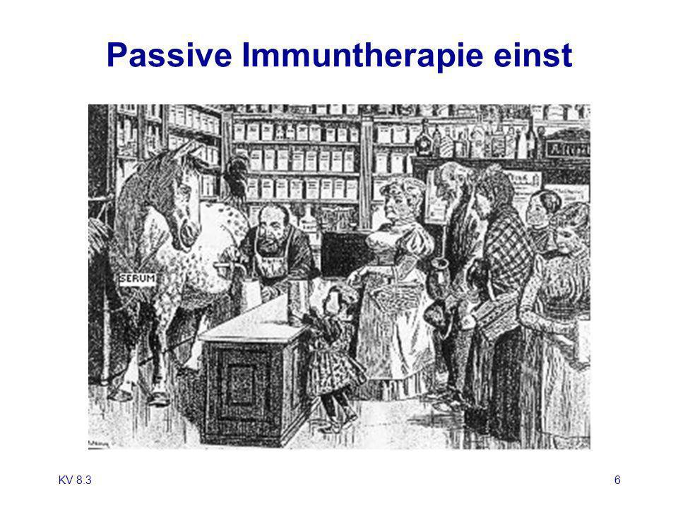 KV 8.36 Passive Immuntherapie einst