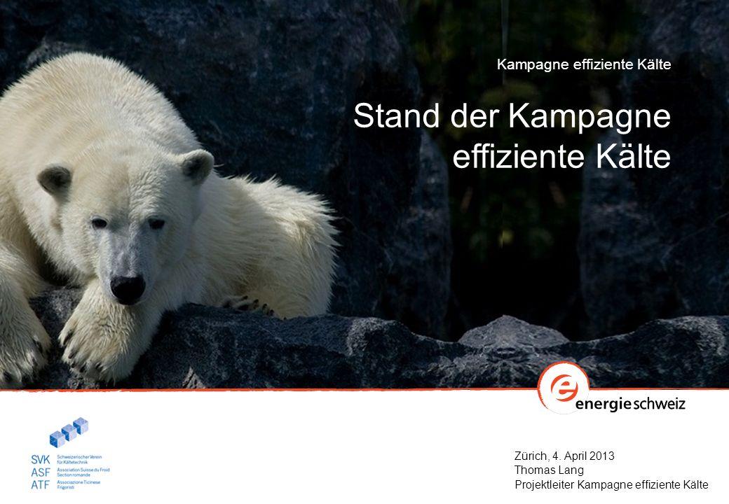Zürich, 4. April 2013 Thomas Lang Projektleiter Kampagne effiziente Kälte Kampagne effiziente Kälte Stand der Kampagne effiziente Kälte