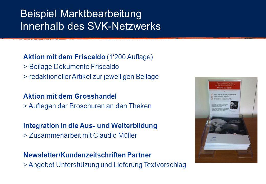 Beispiel Marktbearbeitung Innerhalb des SVK-Netzwerks Aktion mit dem Friscaldo (1200 Auflage) > Beilage Dokumente Friscaldo > redaktioneller Artikel z