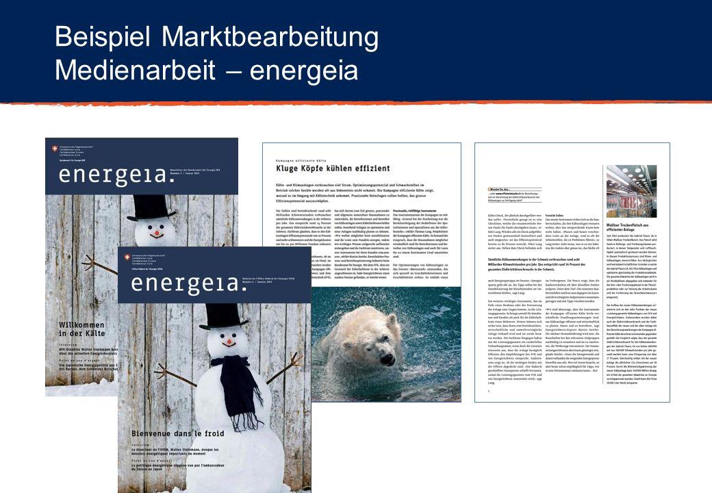 Beispiel Marktbearbeitung Medienarbeit – energeia