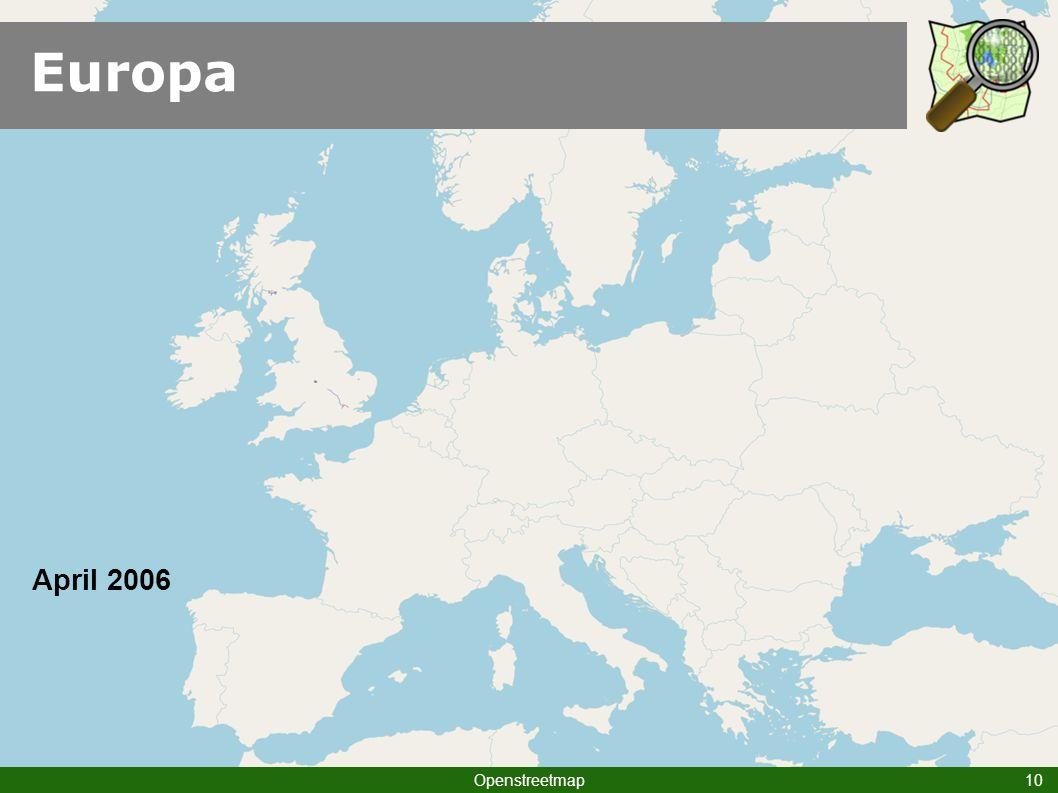 Europa Openstreetmap 10 April 2006