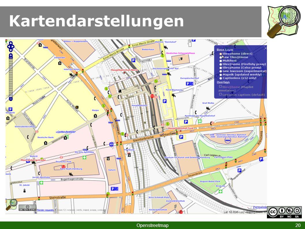 Kartendarstellungen Openstreetmap 20