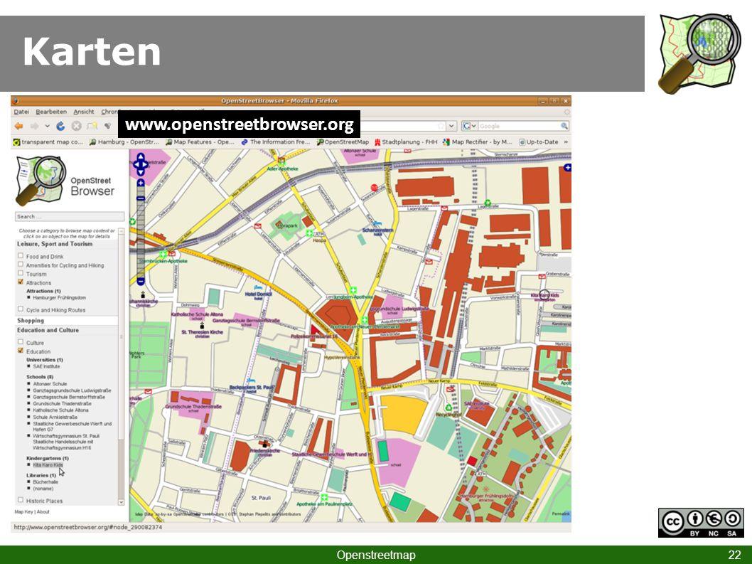 Karten Openstreetmap 22 www.openstreetbrowser.org