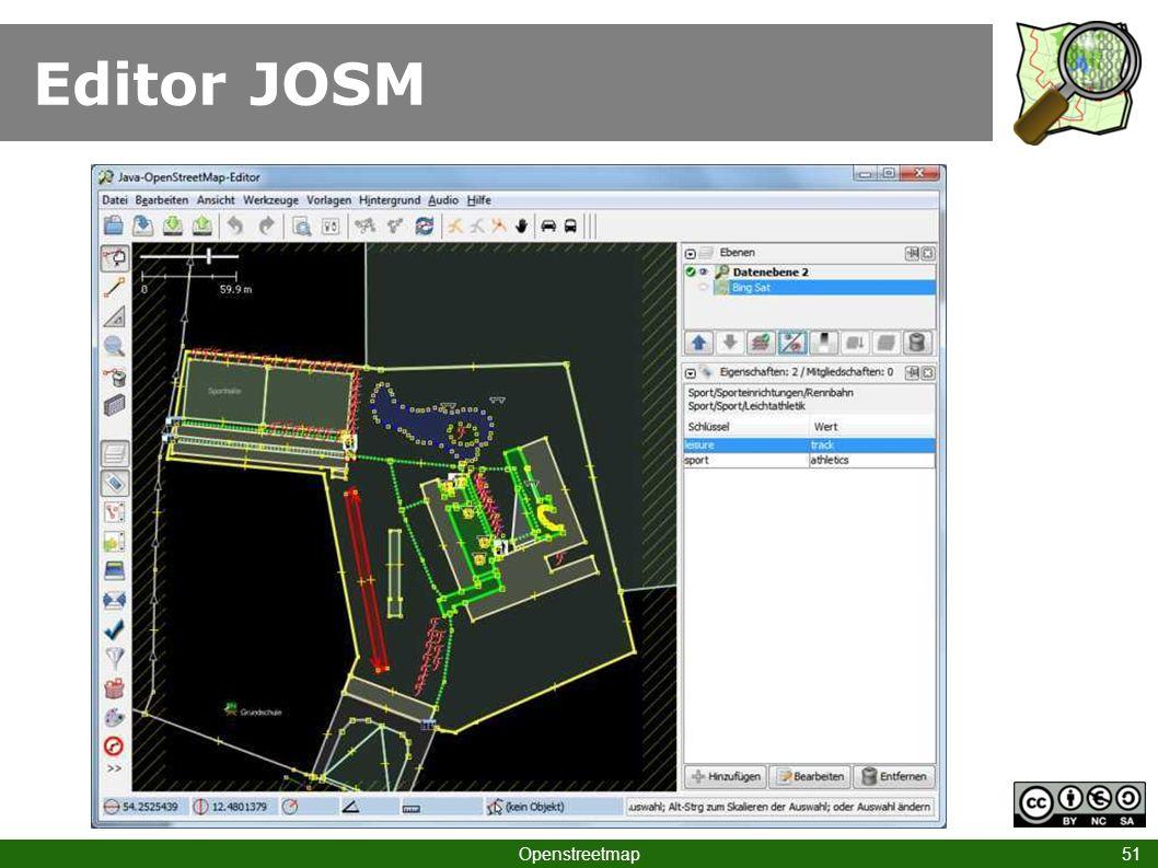 Editor JOSM Openstreetmap 51